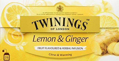 Twinings Lemon & Ginger, 25 Beutel x 1,5g, 37,5g, 3er Pack (3 x 38 g) -