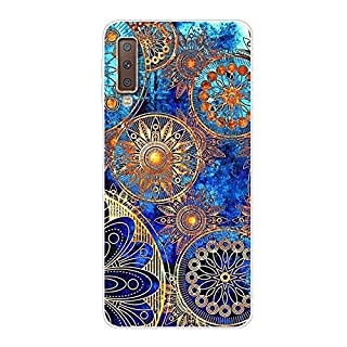 Aksuo for Samsung Galaxy A7 2018 Slim Shockproof Case, Exquisite Pattern Design Clear Bumper TPU Soft Flexible Rubber Silicone Skin Back Cover - Q-Samsung Galaxy A7 2018-48