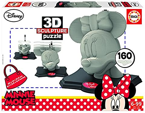 Educa Borrás - 16970.0 - 3D Sculpture Puzzle - Minnie - 160 pièces