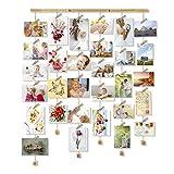 Love-KANKEI MYBABY Cadre Photo Mural avec Corde Porte-Photos avec 30 Petites Pinces Belle Décoration de la Maison Cadeau Mariage, Couple, Anniversaire