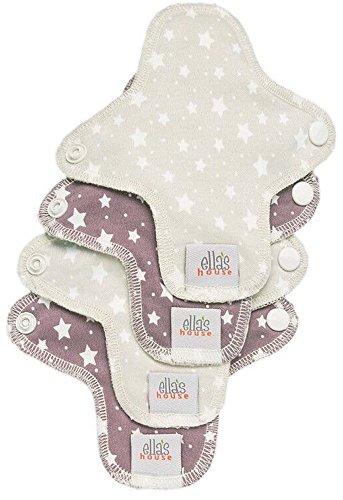 Moon Pads Mini waschbare Slipeinlage aus Bio-Baumwolle 4er-Set stars