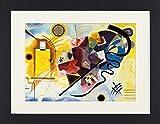 1art1 113974 Wassily Kandinsky - Gelb Rot Blau, 1925 Gerahmtes Poster Für Fans Und Sammler 40 x 30 cm
