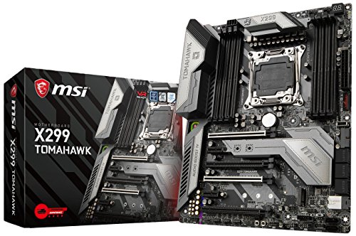 MSI x299 thomahawk LGA 2066 DDR4 – 4266 + (OC) 2 X M.2 Steel Frozr & 11 X USB 3.1 (3 X Gen2 & 8 X Gen1), 1 X USB C, Mystic Light and Sync, 3d X-Mounting, Intel LAN e Wifi, PCIe Steel Armor, ATX scheda madre
