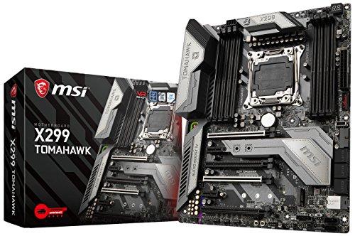 MSI x299thomahawk LGA 2066DDR4-4266+ (OC) 2X M.2Steel Frozr & 11X USB 3.1(3X Gen2& 8X Gen1), 1X USB C, Mystic Light and Sync, 3d X-Mounting, Intel LAN e Wifi, PCIe Steel Armor, ATX scheda madre