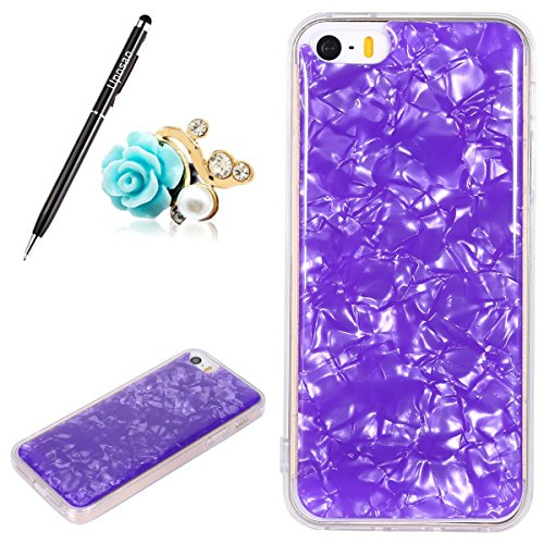 Coque Compatible avec iPhone SE,Coque iPhone 5S Etui Coque Transparente Glitter Paillette Mode Fille Cristal Coque Silicone Gel TPU Souple Housse Téléphone Couverture Housse Etui Coque iPhone SE 5S 5