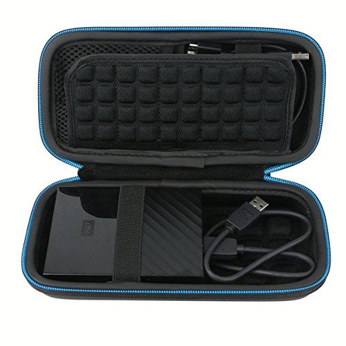 Pour WD My Passport / Samsung / Toshiba Portable Disque dur Externe Portable Étui Housse par Markstore (black 2)