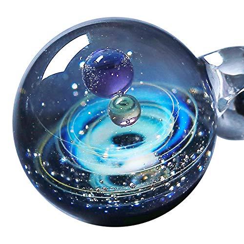 Pavaruni - Original Galaxie-Schmuck - Aurora Kosmos-Design - japanische Kunst - von Kunsthandwerkern gefertigt - Geschenkidee (Apollo)