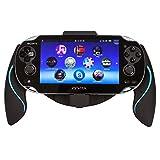 Link-e  - Support manette ergonomique Noir/Bleu pour console PS Vita (grip, poignée, handle)