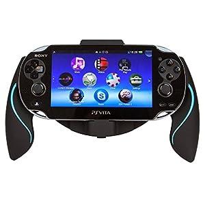 Link-e – Controller halterung ergonomischer joystick griffe schwarz / blau für Sony PS Vita 1000 Konsole