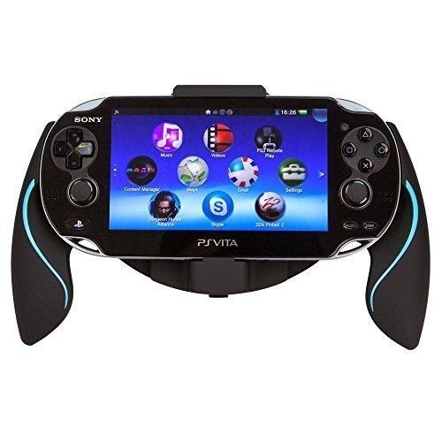 Link-e ® - Support manette ergonomique Noir/Bleu pour console PS Vita (grip, poignée, handle)