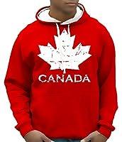 Sweatshirt Canada à capuche, pull, sweat, entretien: lavage en machine à 60°C, coupe de confort, coupe de confort taillée plus grand