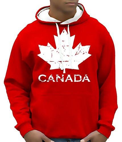 Canada Vintage NEU AHORN Kapuzensweater KANADA BICO-ROT GR.L (Coole Vintage Shirts)
