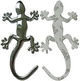 3D Auto Aufkleber Gecko Gekko Gecho Eidechse Emblem Chrom PVC Sticker NEU!