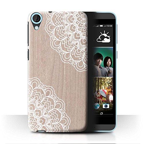 Stuff4® Hülle/Case für HTC Desire 820 / Ahornholz Muster/Fein Spitzenborte Holz Kollektion