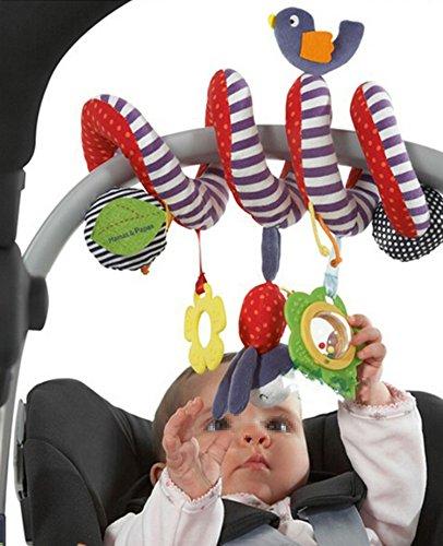Designs Krippe (TININNA Baby Pram Krippe Spirale Aktivität Spielzeug Niedlich Plüsch Tier Design Hängende Rasseln Spirale Spielzeug Kinderwagen Spielzeug Baby Auto Sitz Spielzeug)