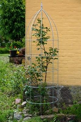 Blumenhilfe Verzinkt Ø 30cm Höhe: 100cm Rankhilfe Rankgitter Obelisk von kuheiga - Du und dein Garten