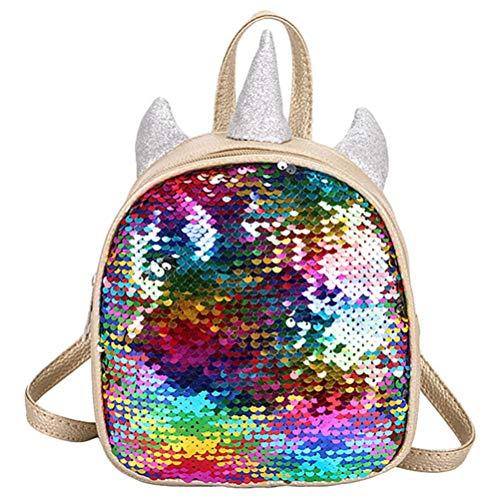 Pailletten Einhorn Rucksack, Mini Einhorn Daypack Travel Umhängetasche Schultasche für Kleinkind-Babys