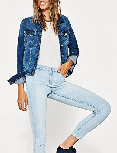 Esprit Women's Women's Stretch Skinny Bleached Jeans Cotton blue