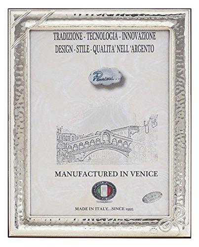 FIOCCO XXL Cornice per Foto 24x18cm Portafoto Argento Artigianale Made in Italy