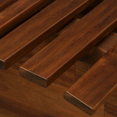 Deuba Schwungliege | FSC®-zertifiziertes Akazienholz | Ergonomisch | Vormontierte Latten | Wippfunktion | Gartenliege Sonnenliege Relaxliege Saunaliege - 3