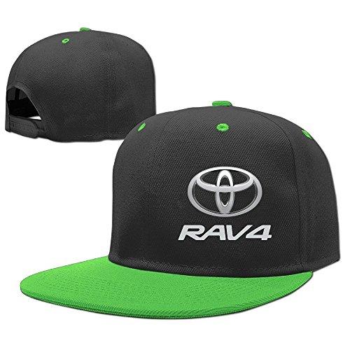 yhsukruny-kids-toyota-rav4-unisex-adjustable-hip-hop-hat-cap-kellygreen