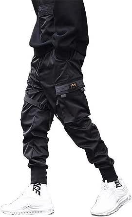 Kenebo Pantaloni da Uomo Multi-Tasca Harem Hip Pop Pantaloni Sportivi da Uomo Pantaloni Cargo da Uomo alla Moda Casual