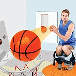 YunNasi Mini-Toilettes Jeu Basket-Ball Panier Jouet Salle de Bain Cadeaux Enfant