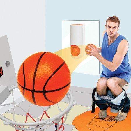 Yunnasi Mini Toilette Basketball Set Basketballkorb Bälle fürs Badezimmer Klo & WC Dekor