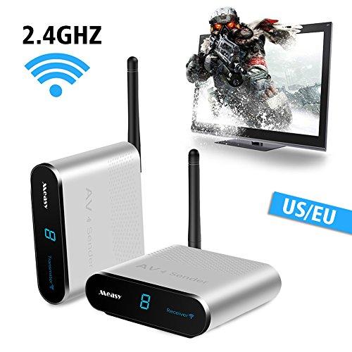 Wireless HD Extender Set (Empfänger und Sender) für HDMI mit DVD,DVR,CCTV-Kamera,IPTV,Satellitenempfänger,Digital-TV-Set-Top-Box usw,Reichweite max.660feet Digital-tv-dvr