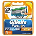 Gillette Fusion ProGlide Power Men's Razor Blades, 4 Blades