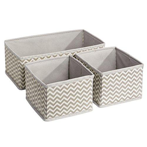 Interdesign axis scatole per armadio, organizer armadio in polipropilene, set da 3 contenitori per armadi, grigio tortora/beige