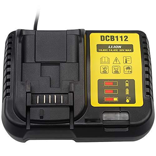 Waitley Cargador batería DCB112 Dewalt 10.8V 14.4V