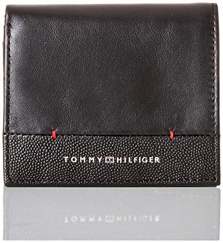 Tommy Hilfiger Th Business Ns Trifold - Portafogli Uomo, Nero (Black), 2x11x11 cm (B x H T)