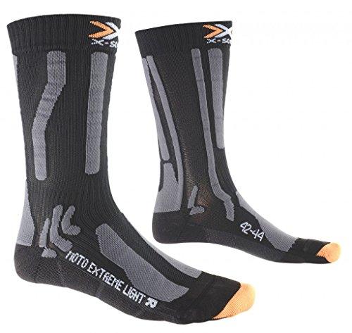 X-Socks Messieurs Xmoto Extreme Light Moto Chaussette, Homme, Moto Extreme Light