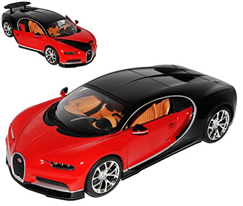 Bugatti Chiron Coupé Rouge partir de 2016 1/18 Bburago modèle voiture
