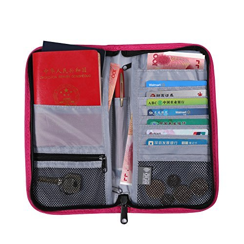Bloqueo RFID cartera de viaje y organizador de Passport holder-travel para pasaporte/tarjeta de Crédito/tarjeta de...