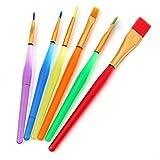 6 Stück Pinsel Set, professionelle Künstlerpinsel Set für Aquarell, Malerpinsel, Kunstpinsel-Set, Acrylmalerpinsel für Künstler Ölmalerei Aquarellfarben