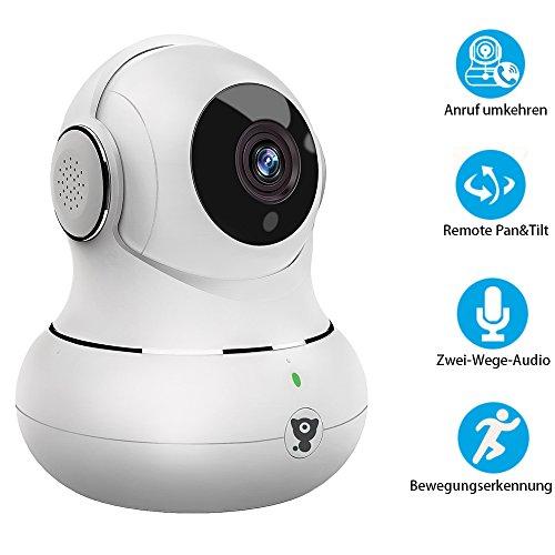 Littlelf Überwachungskamera Wlan Innen für Home Kamera Wlan WiFi Indoor mit 3D Panorama und Deutscher App/Anleitung Home Überwachungskamera HD 720P mit Nachtsicht,Unterstützt Fernalarm,Bewegungserkennung,2-Wege-Audio