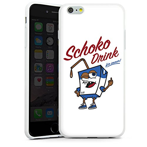 Apple iPhone X Silikon Hülle Case Schutzhülle mir geschiss Spruch Schoko Drink Silikon Case weiß