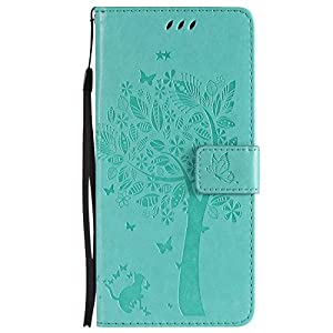 DENDICO Galaxy S9 Plus Hülle, Leder Handyhülle mit Standfunktion und Kartenfach, Magnetverschluss Flip Brieftasche Etui Schutzhülle für Samsung Galaxy S9 Plus – Grün
