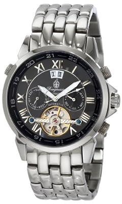 Reloj de caballero Burgmeister California BM118-121 automático, correa de acero inoxidable color plata de Burgmeister