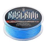KastKing SuperPower Sedales Trenzados Línea 10LB-150LB, 0.08mm-0.80mm, Dyneema trenzado PE - 300M / 500M / 1000M (Blue, 300M 25LB 0.22mm)