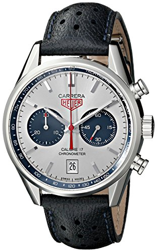 Tag Heuer Herren thcv5111fc6335Carrera Analog Display Swiss Automatische blau Armbanduhr