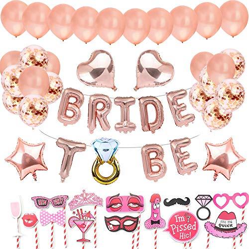 AivaToba Bride to Be Globos Banner Fiestas