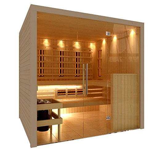 C-Quel Royal Sauna Infrarot Kombination Glasfront 1946mm x 1555mm x 2040mm