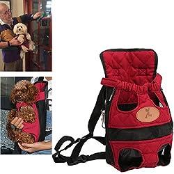 Kismaple Mochila para perros de mascotas Bolsa doble Bolsa de hombro Mochila para perros y gatos Para Pequeño Mediano Grande (Medio (32 * 20 cm))