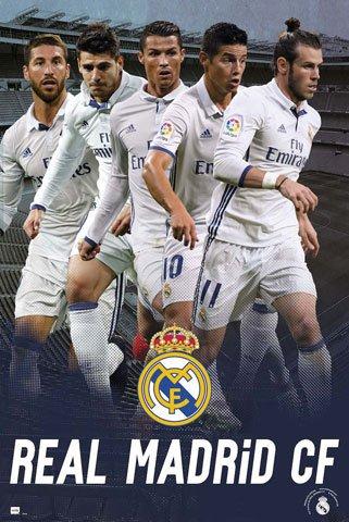 Fußball - Real Madrid - Players - Sport Fußball Poster Druck -...