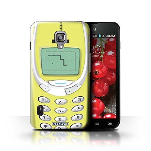 Kobalt® Imprimé Etui / Coque pour LG Optimus L7 II Dual / Nokia 3310 jaune conception / Série Portables rétro Nokia 3310 jaune