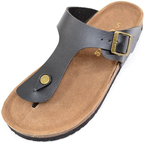 Mesdames/Tong pour femme Style Été/vacances/plage Sandales/Chaussures Noir - noir
