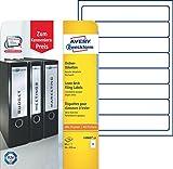 Avery Zweckform L6060-10 Ordnerrücken Etiketten (A4, 80 Rückenschilder, schmal/kurz, selbstklebend, blickdicht, 34 x 192 mm) 10 Blatt weiß